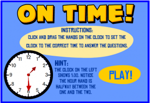 clock time smartboard game