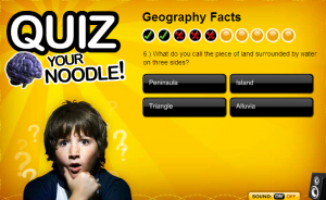 geography facts smartboard game