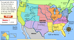 Rd Grade Social Studies Smartboard Games - Us map with geographical features