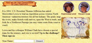 lewis and clark smartboard game