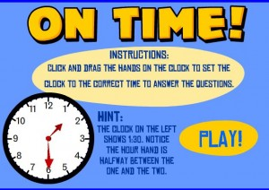 analog clock smartboard game