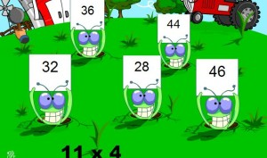 multiplication smartboard game