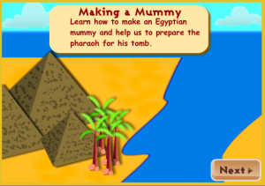 egypt mummy smartboard game