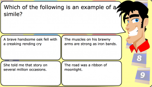 figurative language smartboard game