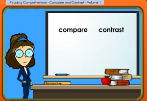 compare contrast smartboard game