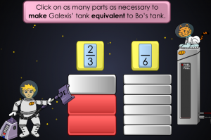 equivalent fractions smartboard game