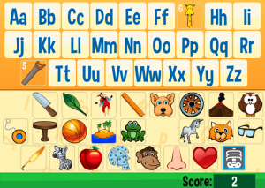 letter identification smartboard game