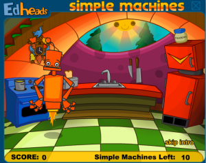 simple and compound machines smartboard game