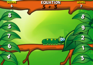 addition and subtraction to 9 smartboard game