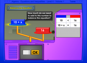 balancing equations smartboard game