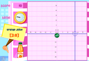 coordinate plane smartboard game