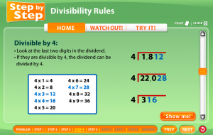 divisibility rules smartboard game
