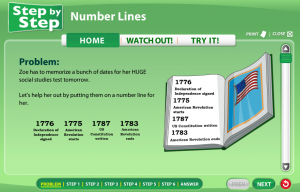 number line smartboard game