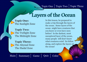 ocean zones smartboard game