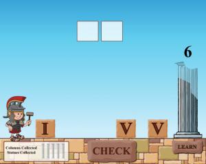 roman numerals smartboard game