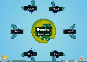 synonym, antonym and homonym smartboard game