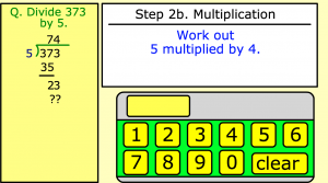 long division smartboard game