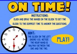 analog clock smartboard game