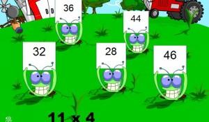 multiplication smartboard game