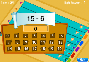 addition and subtraction smartboard game