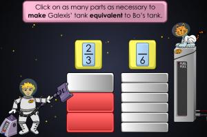 equivalent fractions smartboard game