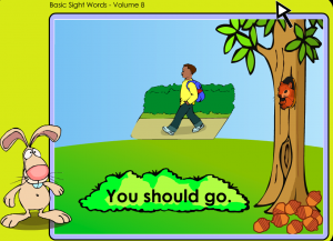 identifying sight words smarboard game
