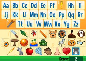 letter identification smartboard game