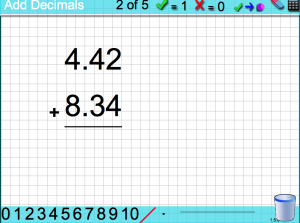 adding, subtracting, multiplying & dividing with decimals smartboard game