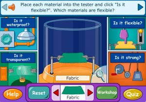characteristics of materials smartboard game