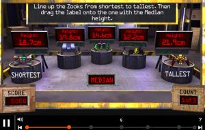 mean, median, mode, range smartboard game