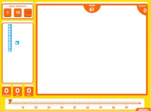 base ten blocks smartboard game