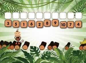 numerical order smartboard game