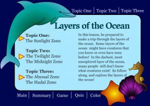 ocean zones smartboard game