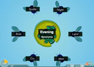 synonym, antonym and homonym smartboard game