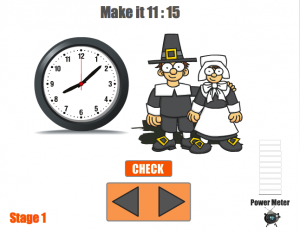 time telling smartboard game