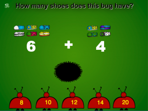 simple addition smartboard game