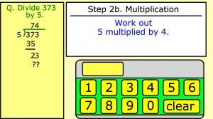 long division smartboard game